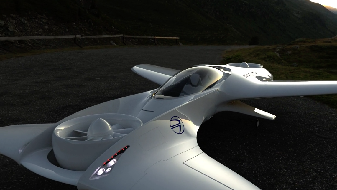 В США представили двухместный летающий автомобиль
