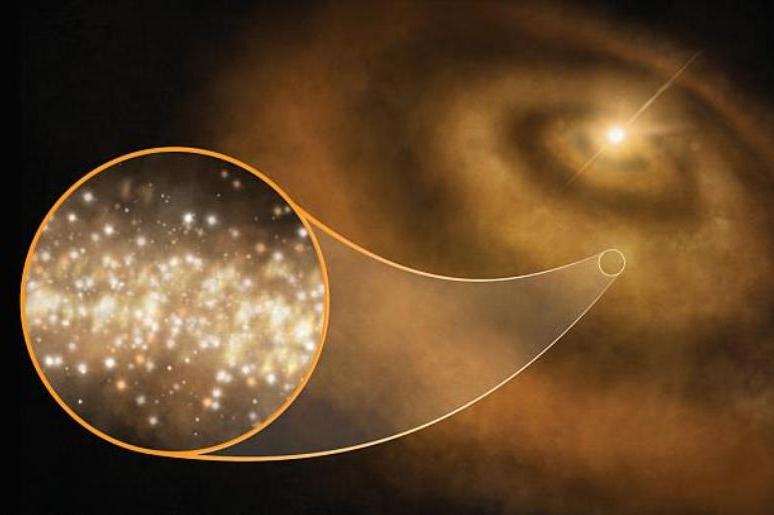 Источником свечения в галактике оказались космические алмазы