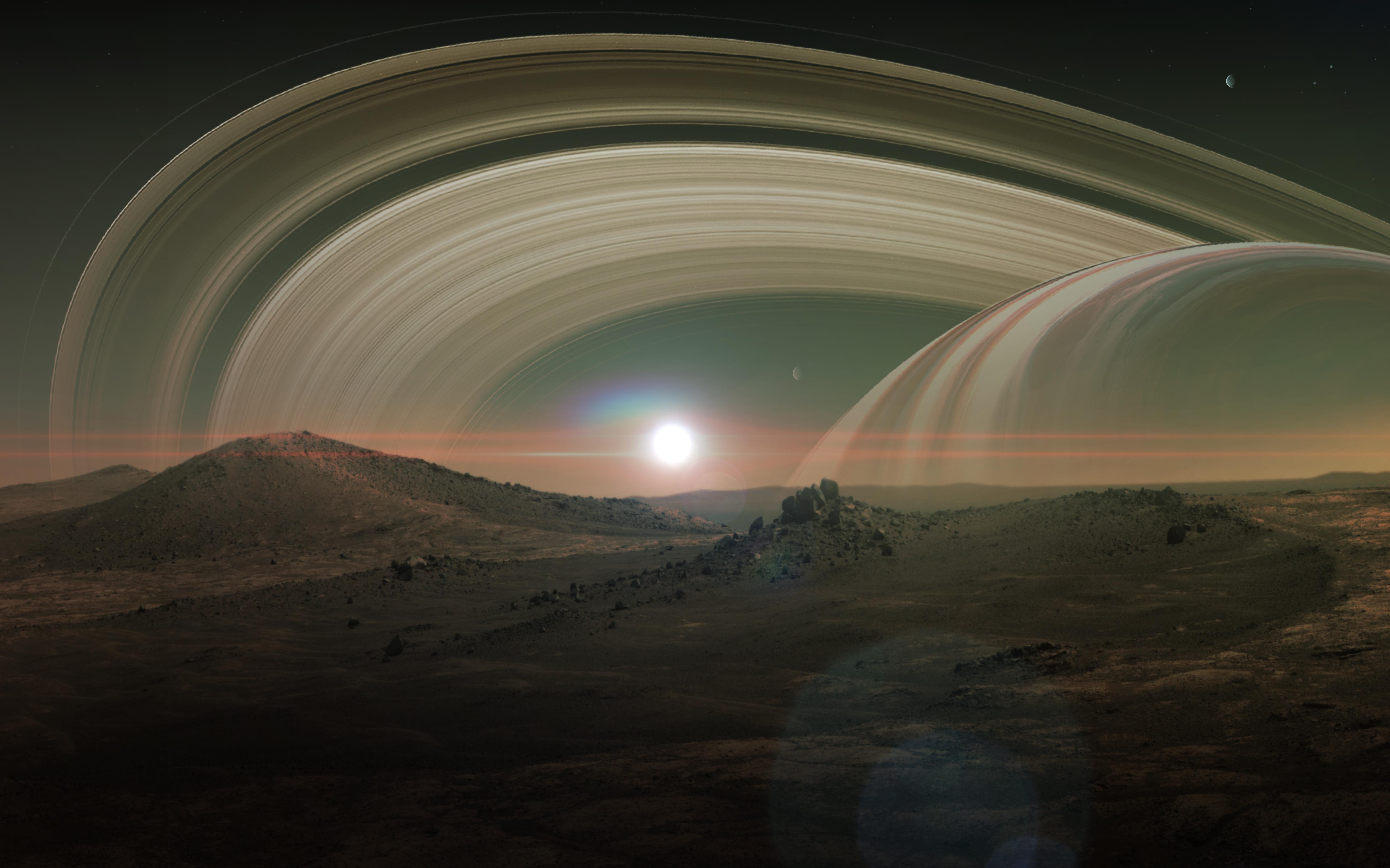 Сатурн планета фото со спутника