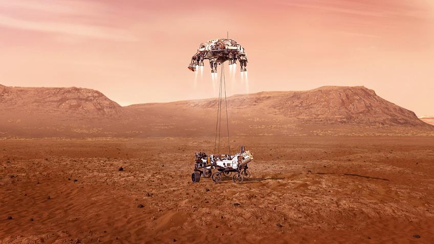 НАСА показало видео, как марсоход Perseverance приземлится на Марсе -  Телеканал «Наука»