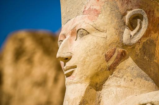 Редкое изображение женщины-фараона было найдено в Великобритании